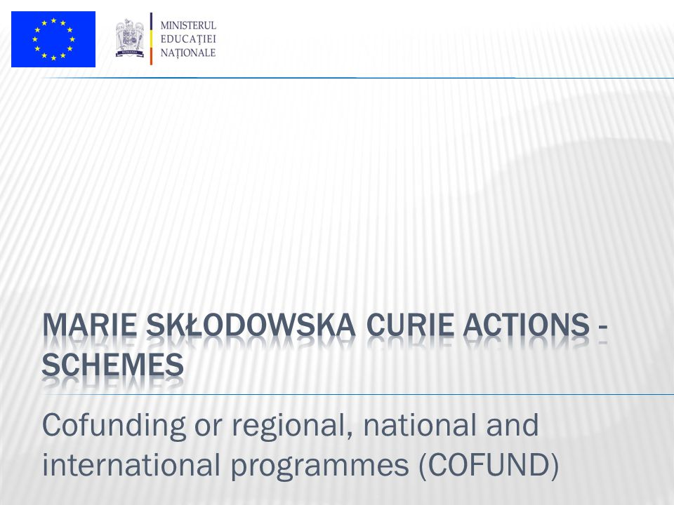 Cofunding or regional, national and international programmes (COFUND)