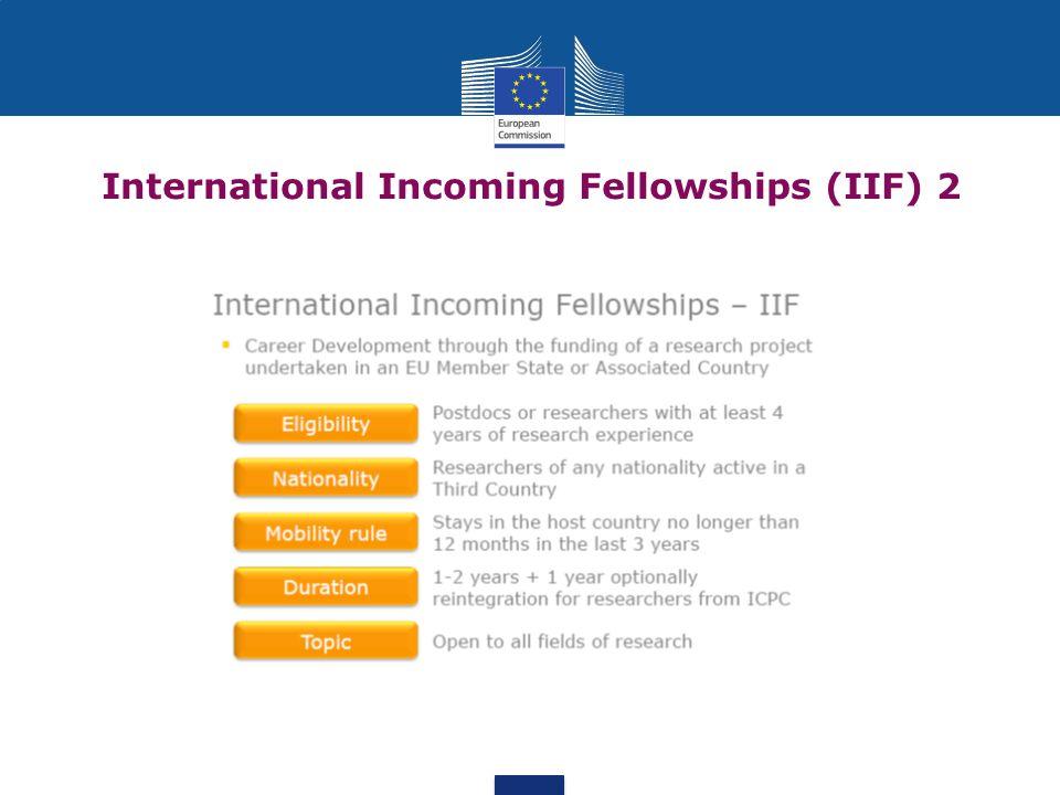 International Incoming Fellowships (IIF) 2