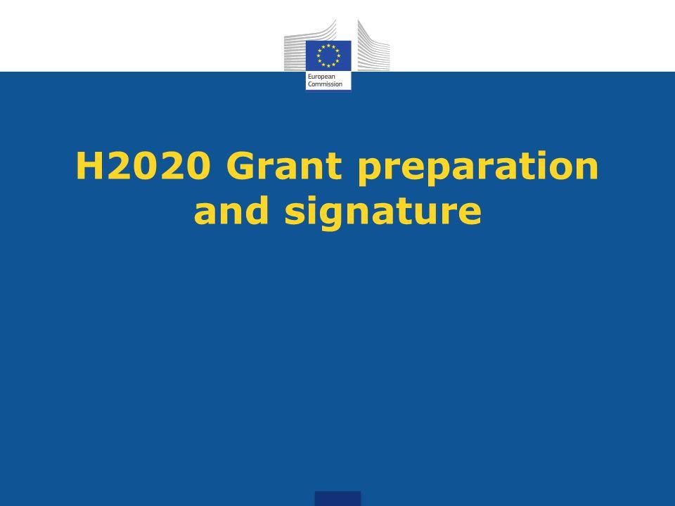 H2020 Grant preparation and signature