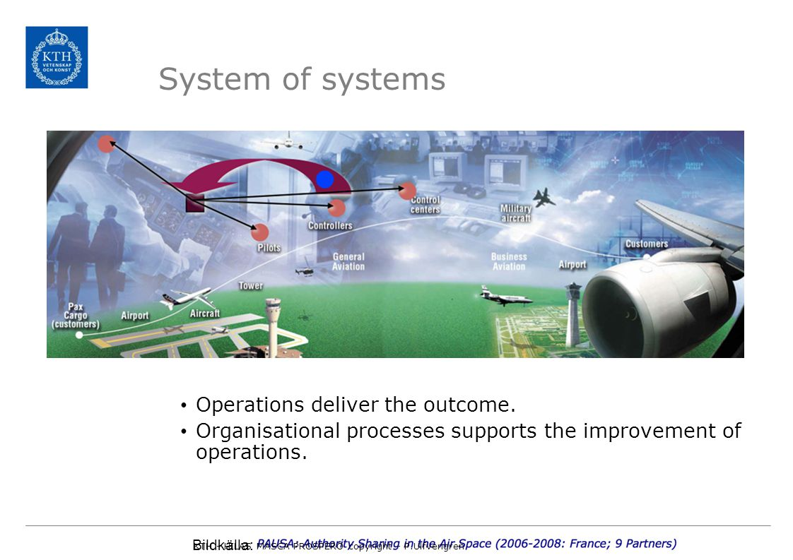 System of systems Operations deliver the outcome.
