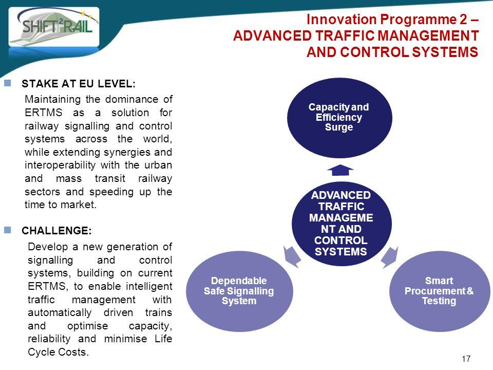 Innovation Programme 2 – ADVANCED TRAFFIC MANAGEMENT AND CONTROL SYSTEMS 17 ADVANCED TRAFFIC MANAGEME NT AND CONTROL SYSTEMS Capacity and Efficiency S