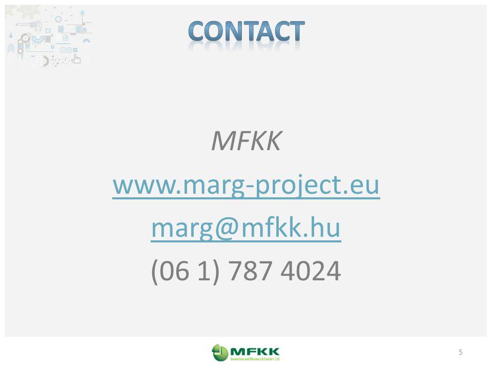 MFKK www.marg-project.eu marg@mfkk.hu (06 1) 787 4024 5