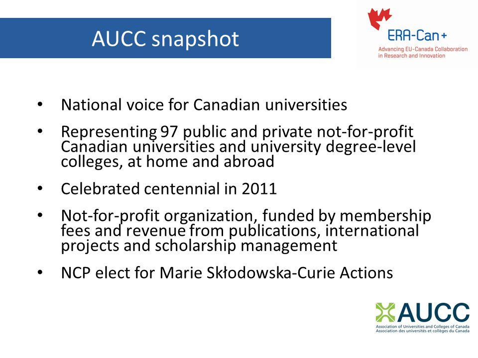 Marie Sklodowska-Curie Actions (MSCA) MSCA Under Horizon 2020 Marie Curie Actions under FP7 Mobility and career development program MSCA Opportunities for Canadians MSCA Calls: http://ec.europa.eu/research/participants/portal/desktop/en/opportunities/ h2020/index.html http://ec.europa.eu/research/participants/portal/desktop/en/opportunities/ h2020/index.html