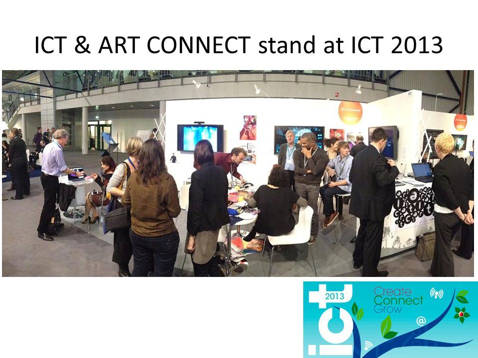 ICT & ART CONNECT stand at ICT 2013