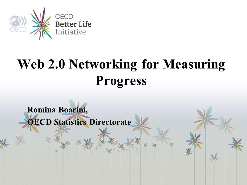 Web 2.0 Networking for Measuring Progress Romina Boarini, OECD Statistics Directorate