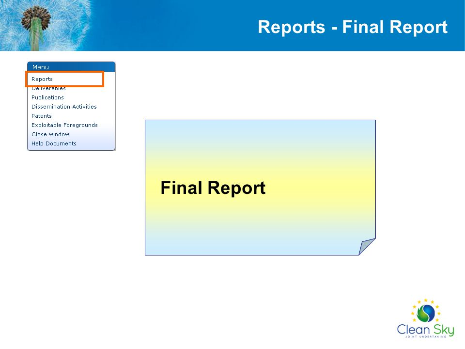 Final Report Reports - Final Report