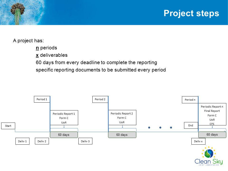 SESAM FRONT END Conditions for Single Submission The Periodic (Final) Report has to be created and finalised.