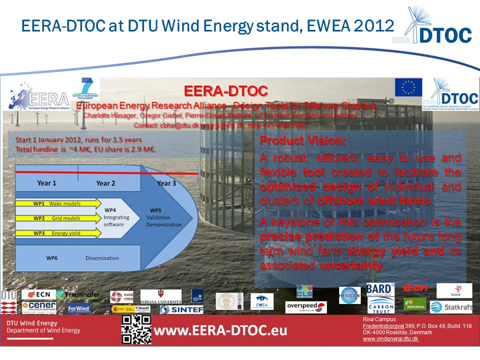 EERA-DTOC at DTU Wind Energy stand, EWEA 2012
