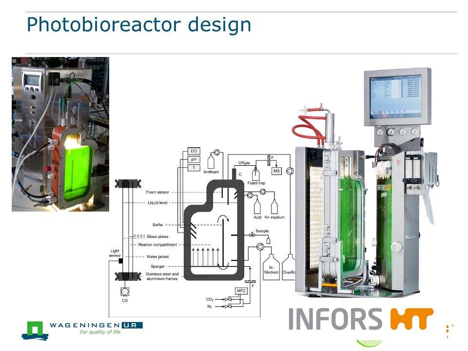 Photobioreactor design