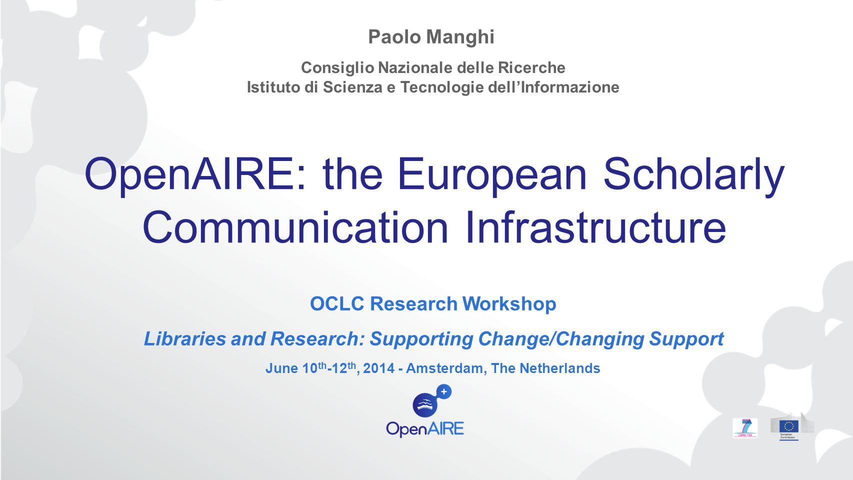 www.openaire.eu @openaire_eu facebook.com/groups/openaire linkedin.com/groups/OpenAIRE-3893548 Thank you.