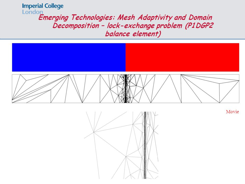 Page 8 Movie Emerging Technologies: Mesh Adaptivity and Domain Decomposition – lock-exchange problem (P1DGP2 balance element)