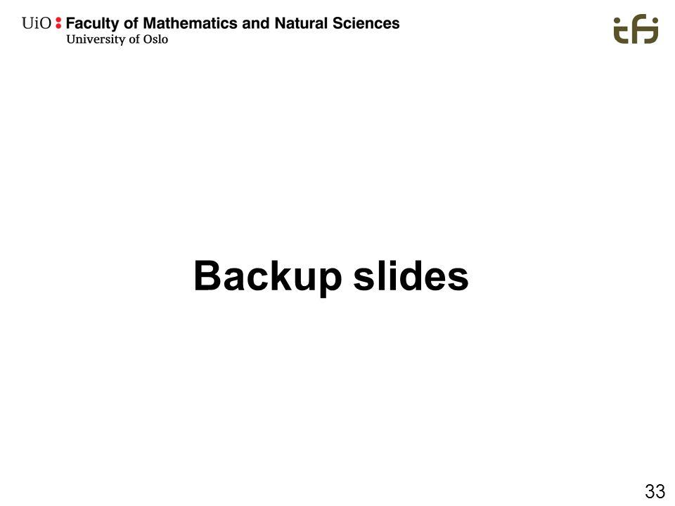 33 Backup slides