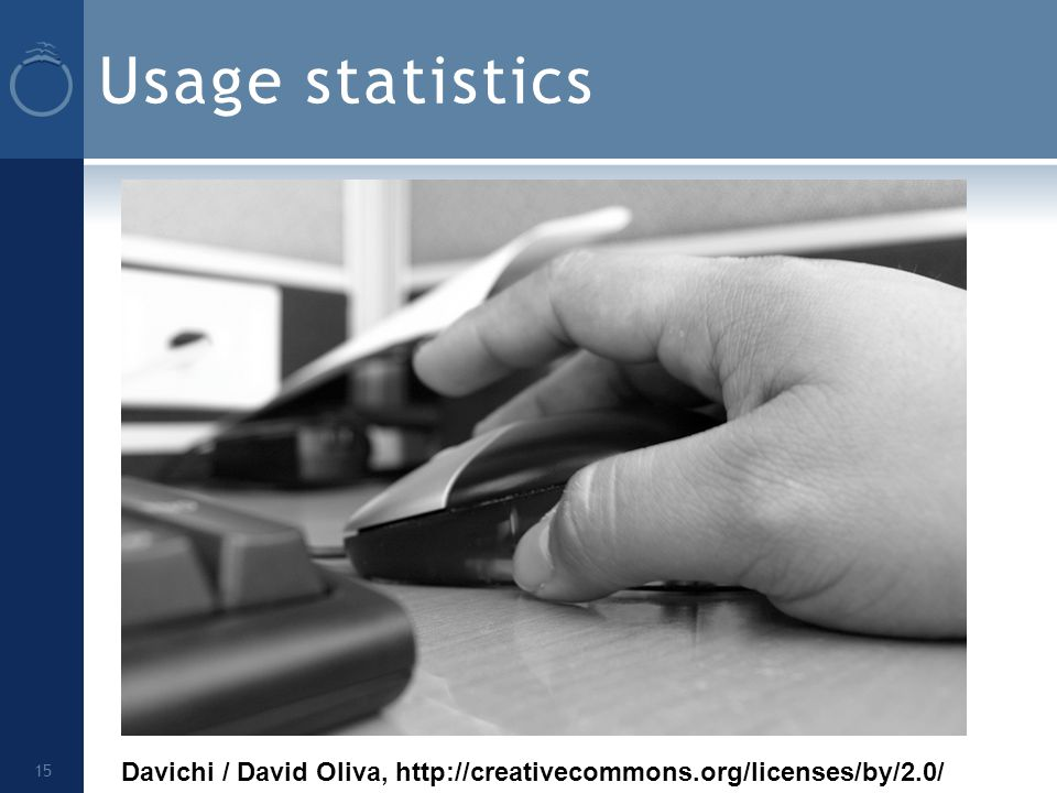Usage statistics 15 Davichi / David Oliva, http://creativecommons.org/licenses/by/2.0/
