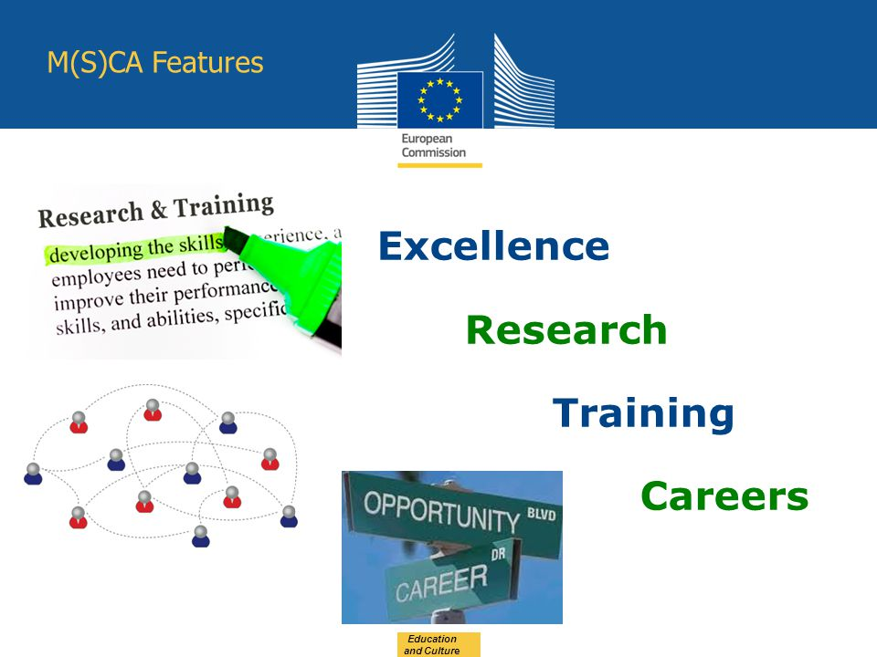 Excellence Research Training Careers Education and Culture M(S)CA Features