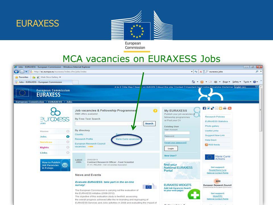 Education and Culture EURAXESS MCA vacancies on EURAXESS Jobs