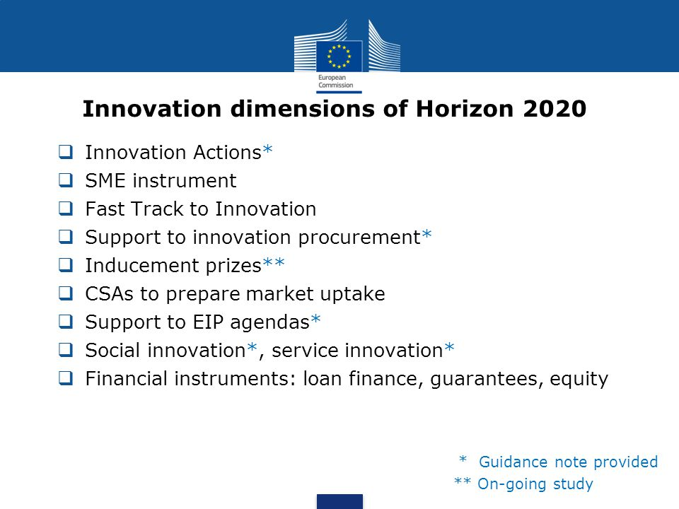  Innovation Actions (funded at 70%)are definned in the Horizon 2020 Rules for Participation:  Innovation action means an action primarily consisting of activities directly aiming at producing plans and arrangements or designs for new, altered or improved products, processes or services.