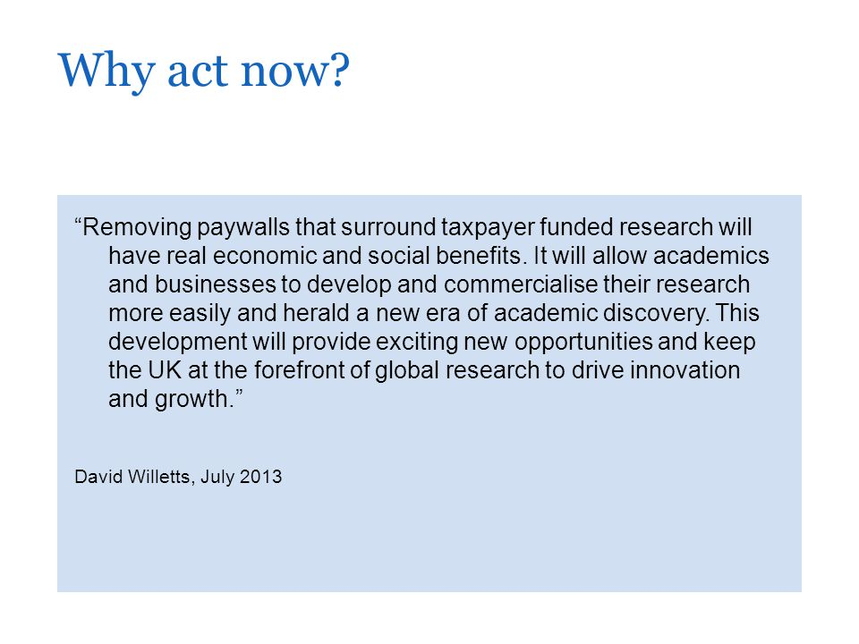 Removing paywalls that surround taxpayer funded research will have real economic and social benefits.