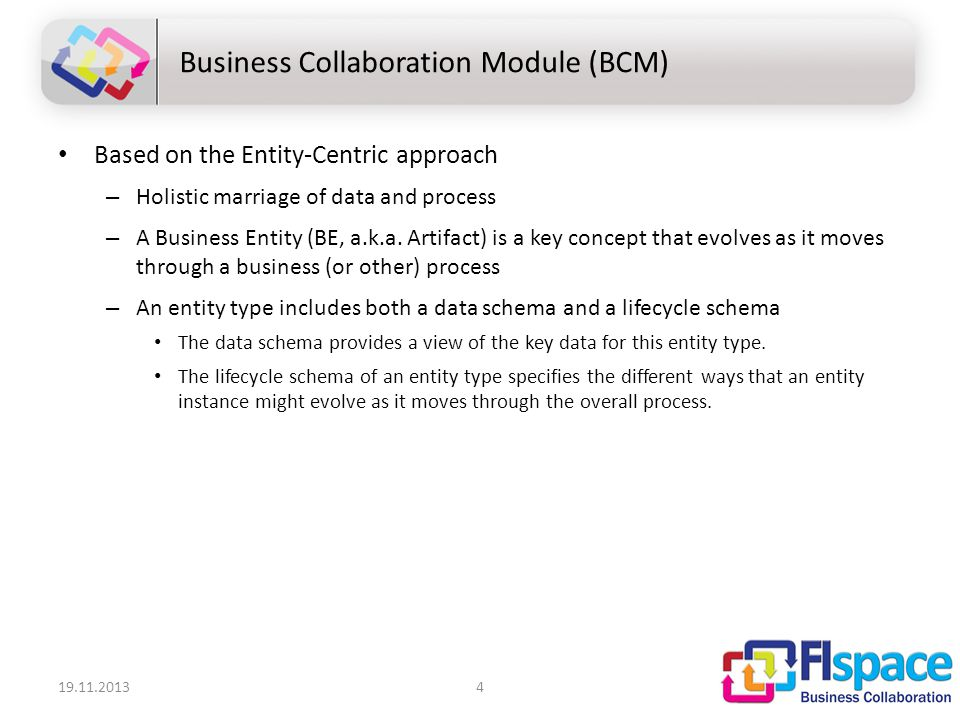 Based on the Entity-Centric approach – Holistic marriage of data and process – A Business Entity (BE, a.k.a.