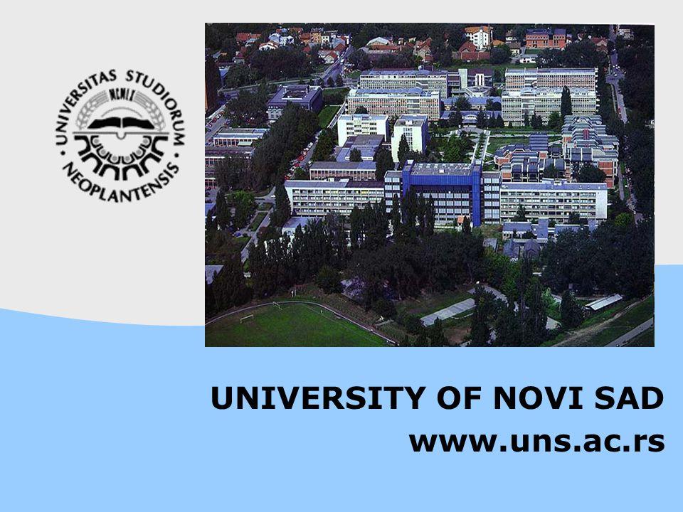 UNIVERSITY OF NOVI SAD www.uns.ac.rs