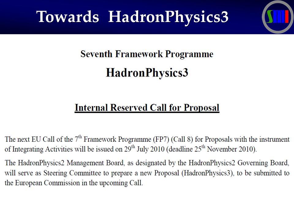 Towards HadronPhysics3 Towards HadronPhysics3
