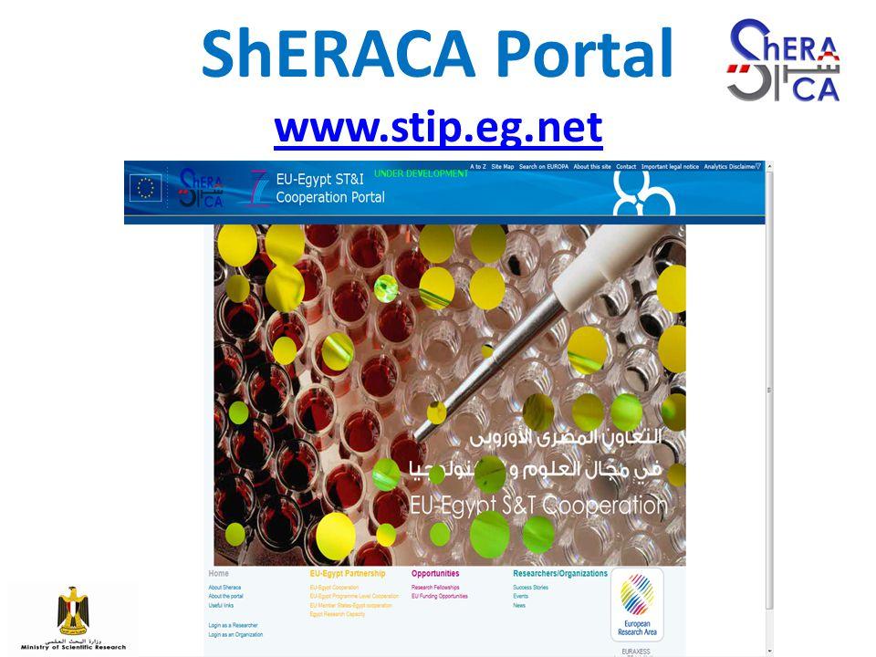 ShERACA Portal www.stip.eg.net www.stip.eg.net