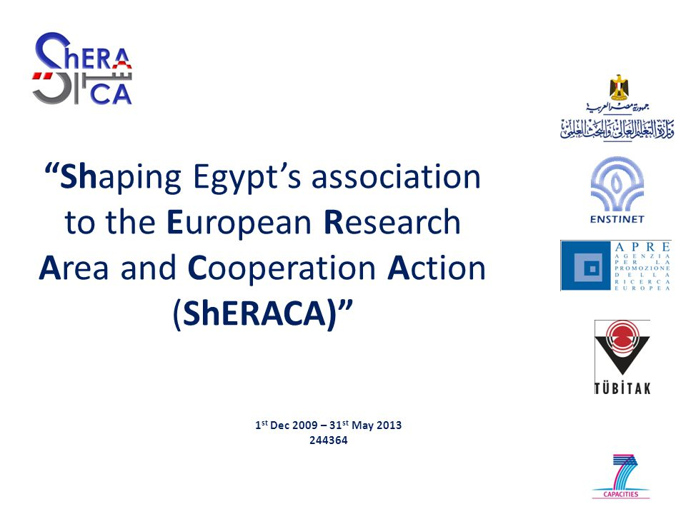Objectives  Promoting, enhancing and supporting the partnership between EU and Egypt's science, technology and innovation stakeholders;  Strengthening EU-Egypt research cooperation capacity;  Increasing the visibility of the Egyptian research capacity in Europe;  Supporting and reinforcing the Egyptian National Contact Points (NCPs) structure and capacity;  Complimenting the role of the JSTCC in enhancing the S&T policy dialogue between EU and Egypt.