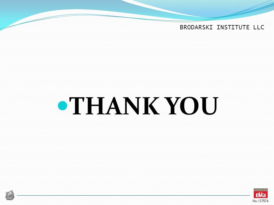 BRODARSKI INSTITUTE LLC No.137574 THANK YOU