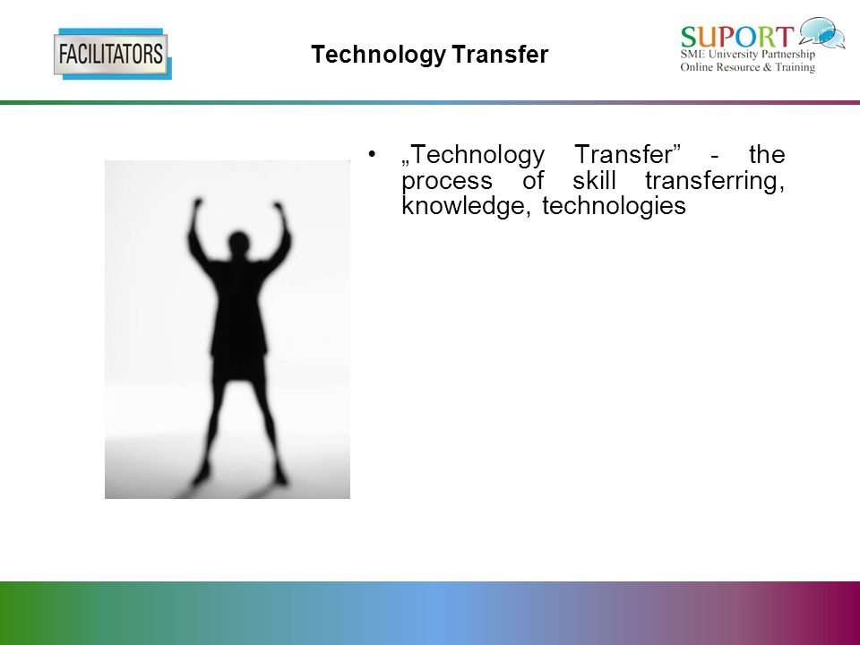"Technology Transfer ""Technology Transfer - the process of skill transferring, knowledge, technologies"