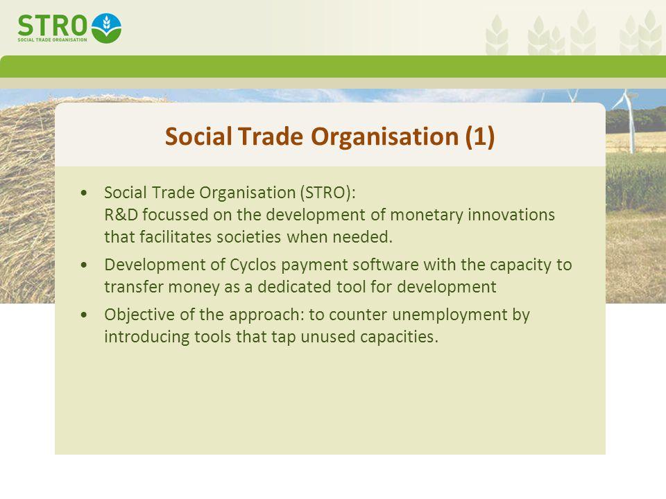 Social Trade Organisation (2) 2003: STRO developed for Banco Palmas the community-bank model.