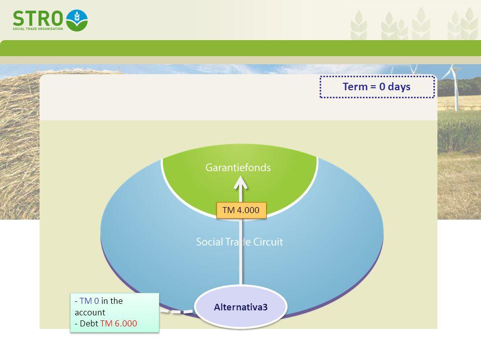 - TM 0 in the account - Debt TM 6.000 - TM 0 in the account - Debt TM 6.000 TM 4.000 Alternativa3 Term = 0 days