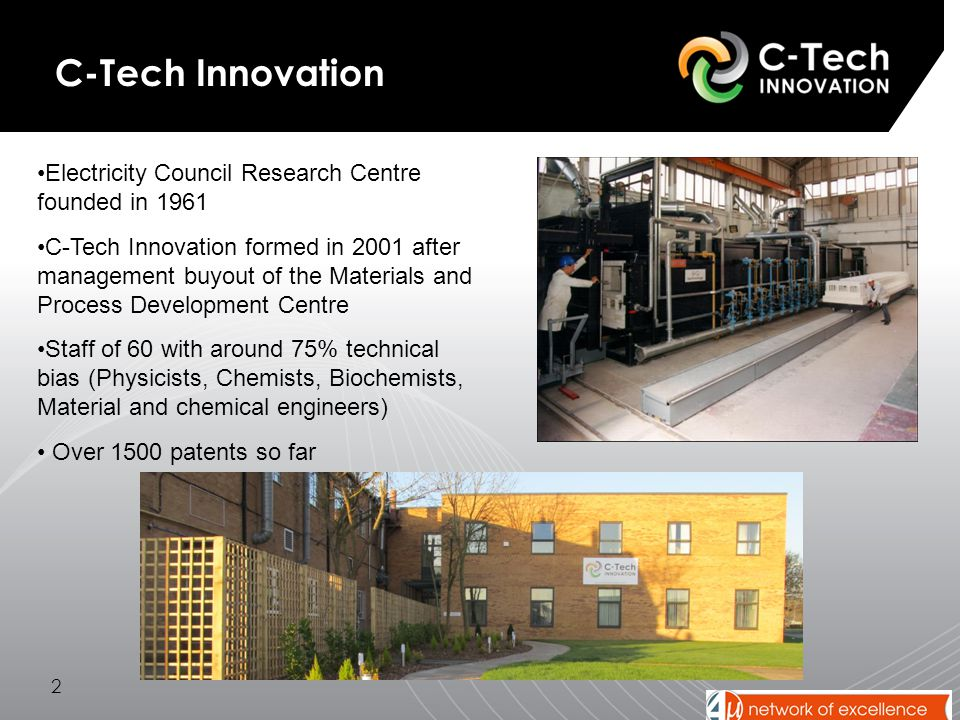 3 The C-Tech Organisation C-Tech Innovation Knowledge and Management Services Research and Development Industrial Products Ventures and Investments