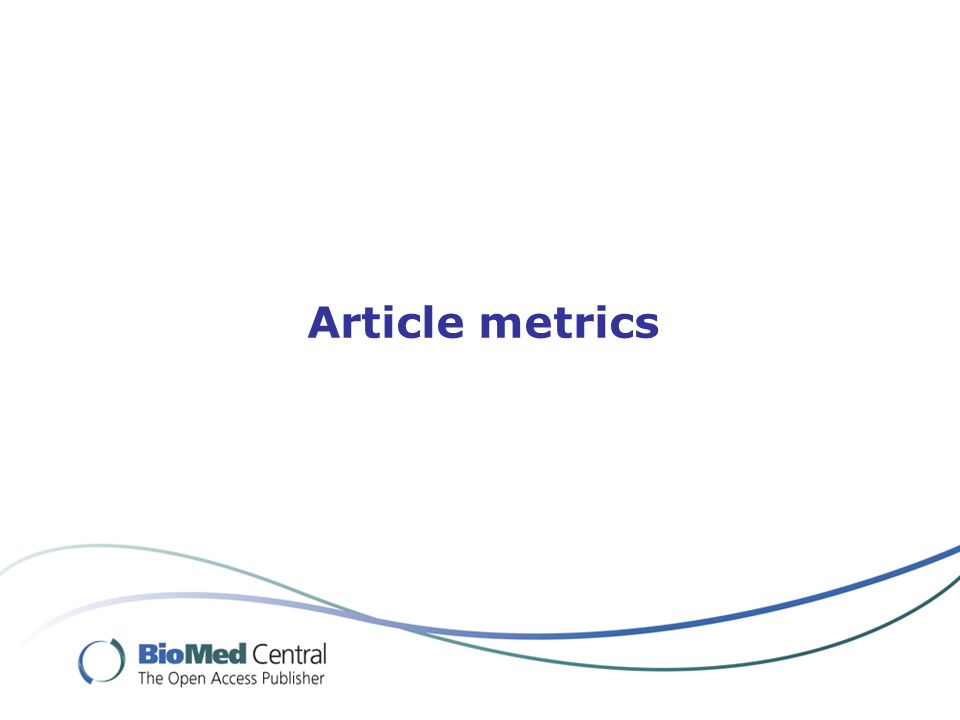 Article metrics