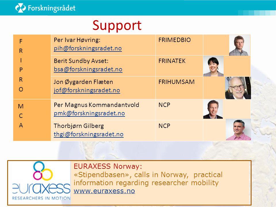 EURAXESS Norway: «Stipendbasen», calls in Norway, practical information regarding researcher mobility www.euraxess.no Support Per Ivar Høvring: pih@fo