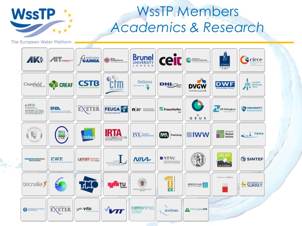 WssTP Members Academics & Research