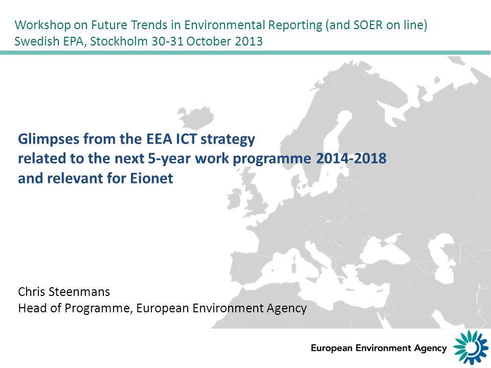 Streamlining environmental indicators => Sharing European and National State of the Environment (SENSE)
