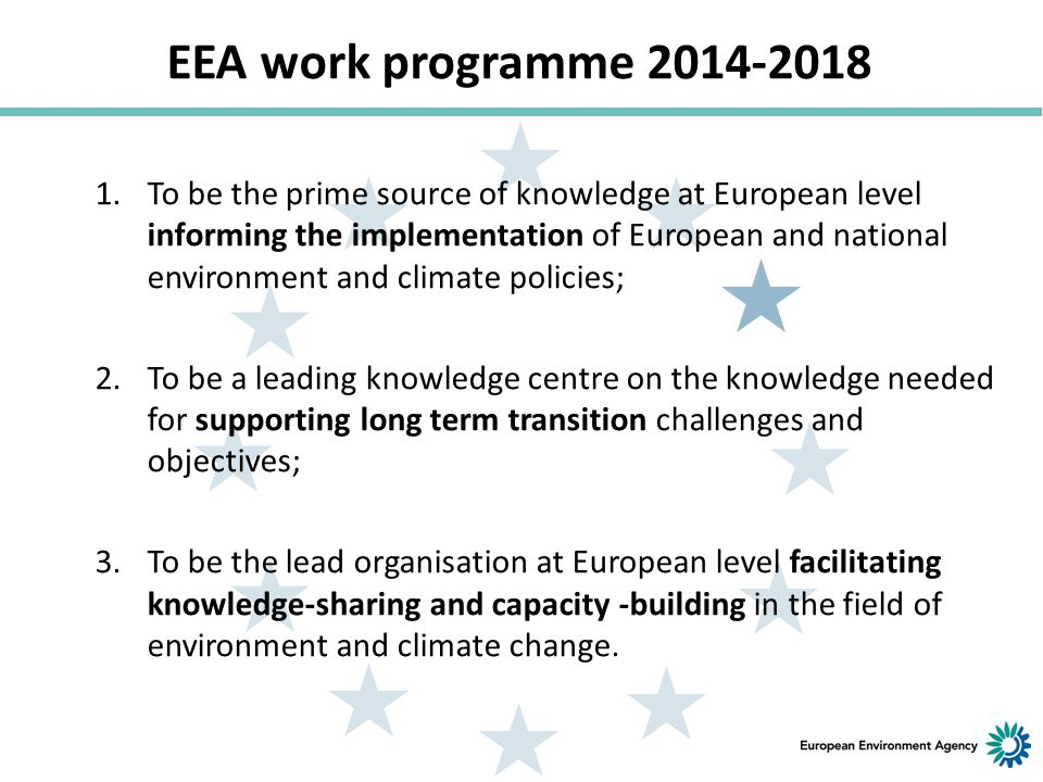 A CRUCIAL MOMENT FOR EUROPE Knowledge creation, sharing and use –SA 3 Goal - To be the authoritative information node and hub within networks of knowledge co-creation, sharing and use.