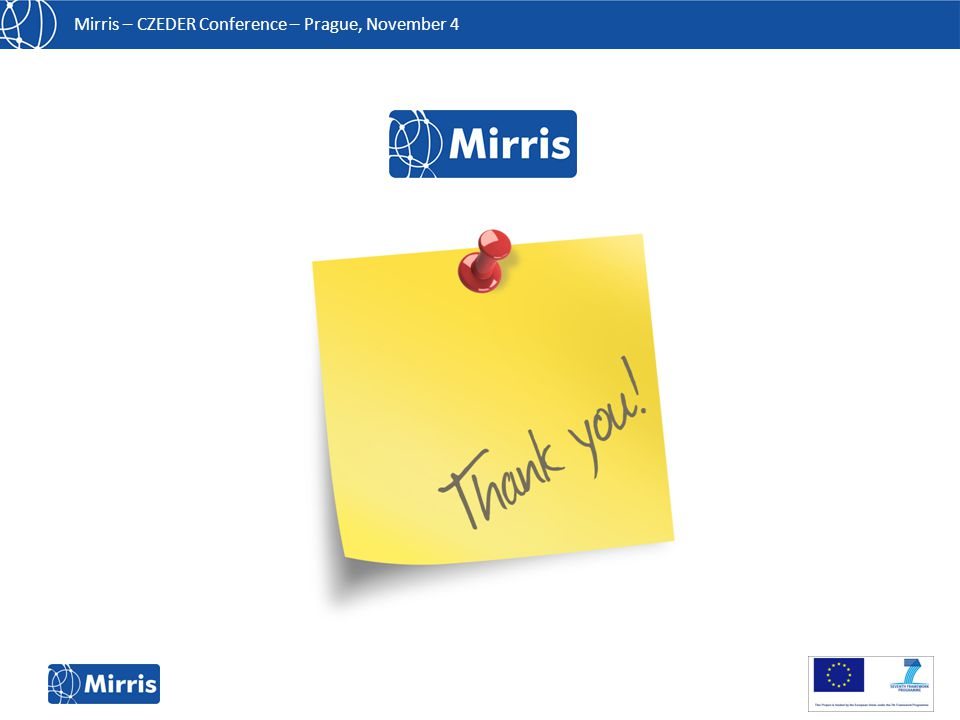 Mirris – CZEDER Conference – Prague, November 4