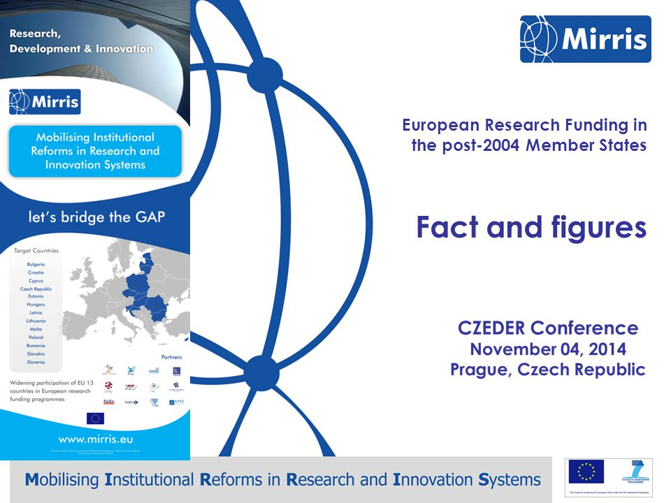 Mirris – CZEDER Conference – Prague, November 4 European Research Funding in the post-2004 Member States Conclusions Brussels October 29, 2014