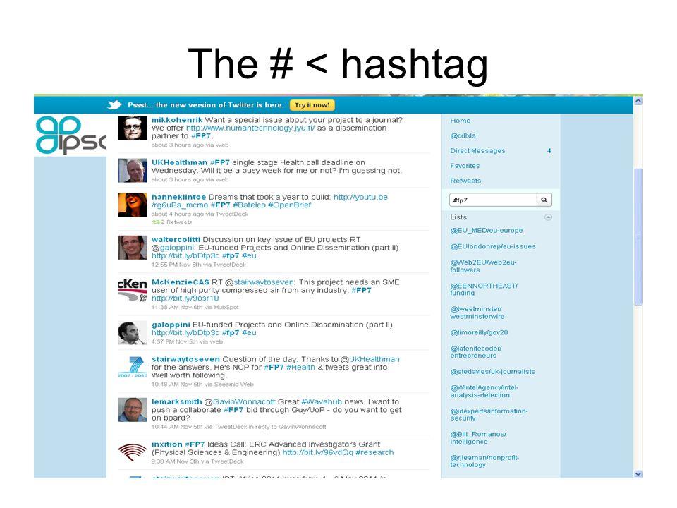 The # < hashtag