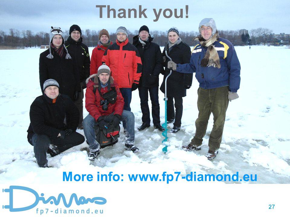 Thank you! 27 More info: www.fp7-diamond.eu
