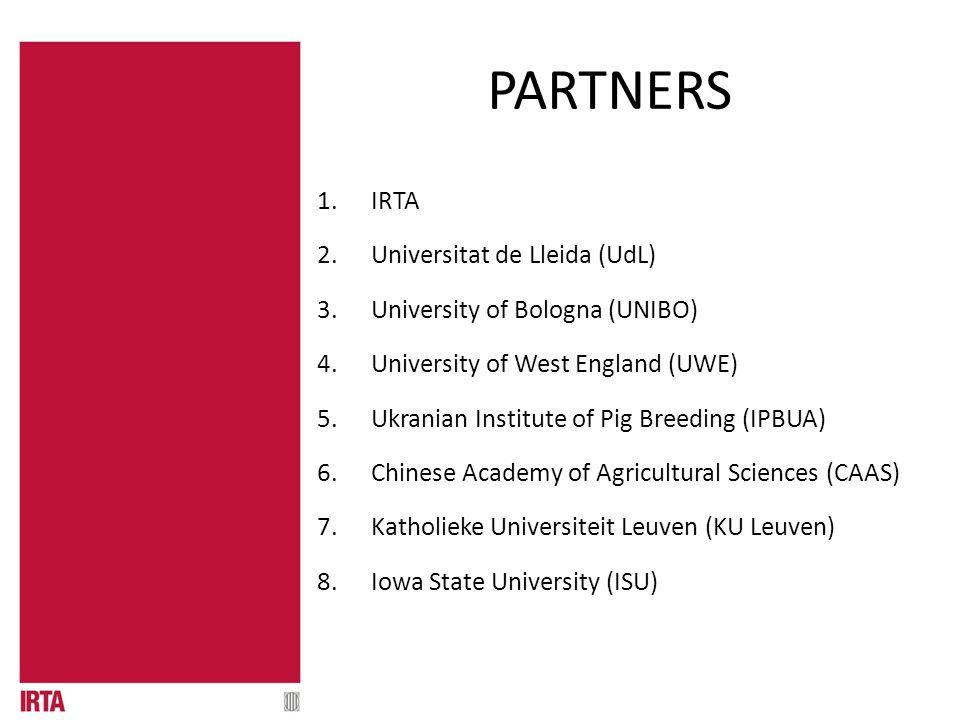 01.1 QUÈ ÉS? PARTNERS 1.IRTA 2.Universitat de Lleida (UdL) 3.University of Bologna (UNIBO) 4.University of West England (UWE) 5.Ukranian Institute of