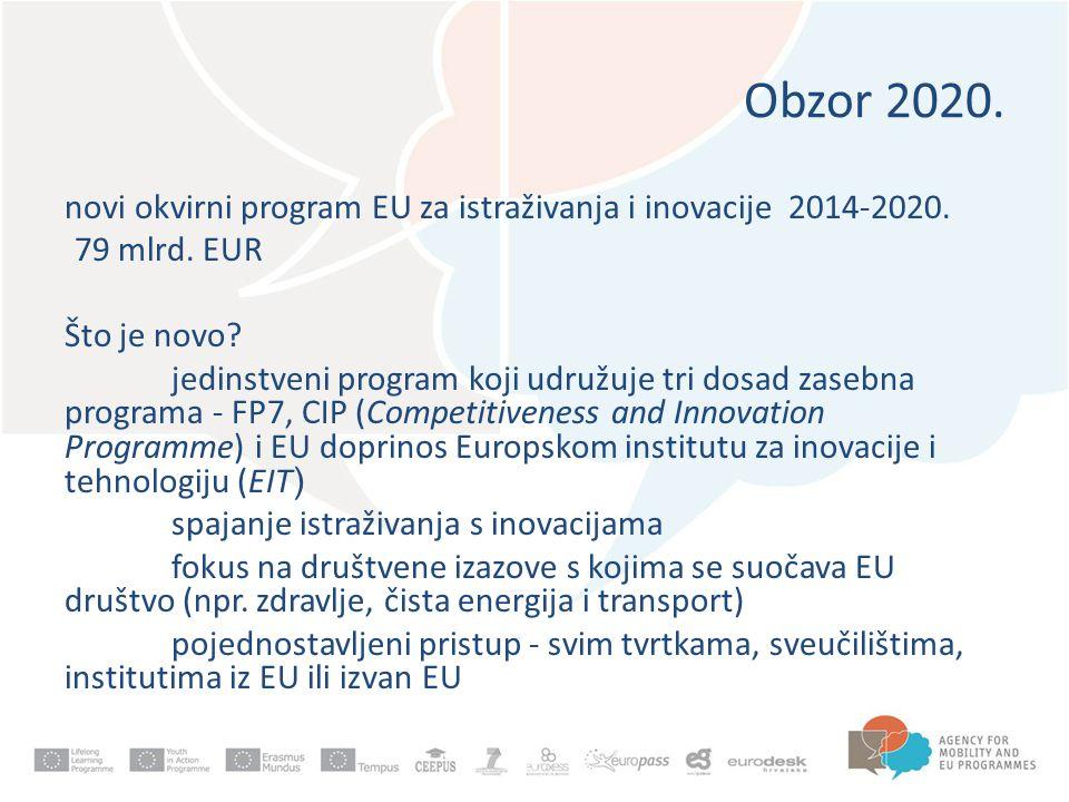 Obzor 2020.novi okvirni program EU za istraživanja i inovacije 2014-2020.