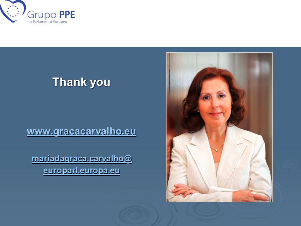 Thank you www.gracacarvalho.eu mariadagraca.carvalho@ europarl.europa.eu