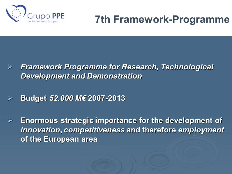 Framework Research Programme 7th Framework-programme