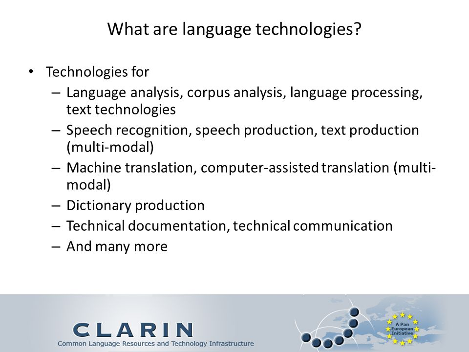 What are language technologies.