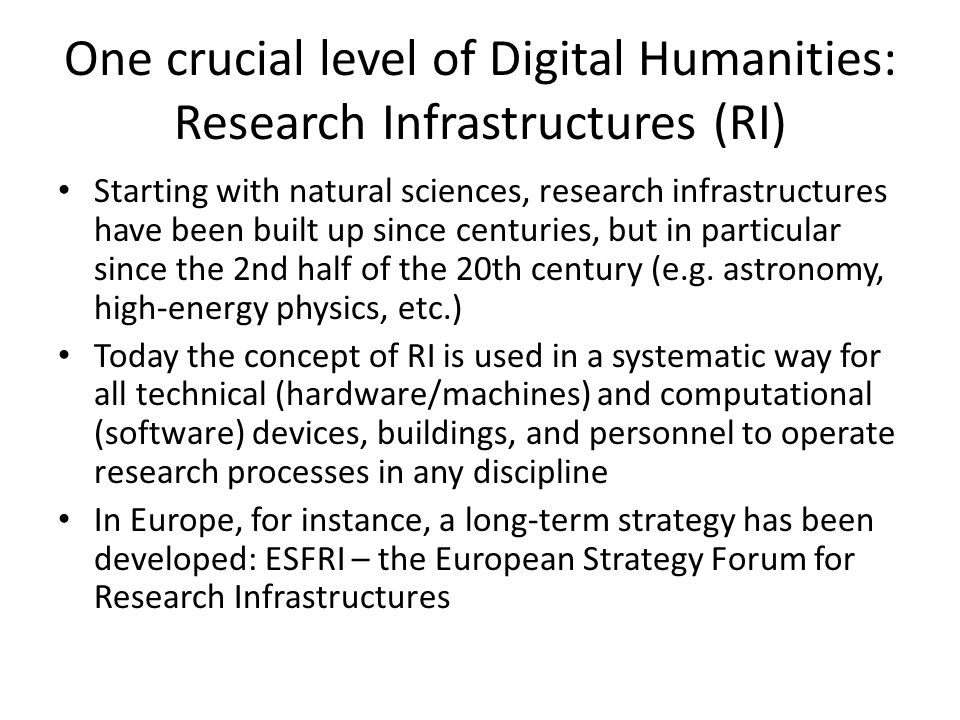 """DARIAH work: VCCs – virtual competence centres Conference series: """"Supporting the Digital Humanities Regular workshops and meetings 4 """"Virtual Competence Centres"""