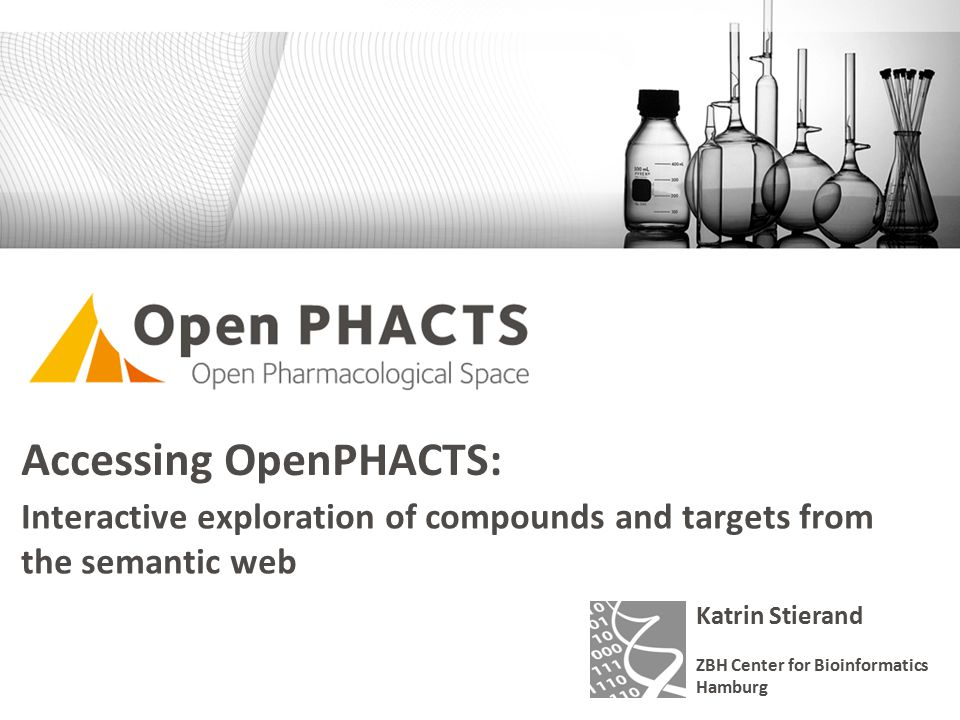 www.zbh.uni-hamburg.deJune 2014Katrin Stierand Accessing OpenPHACTS: Interactive exploration of compounds and targets from the semantic web Katrin Stierand ZBH Center for Bioinformatics Hamburg