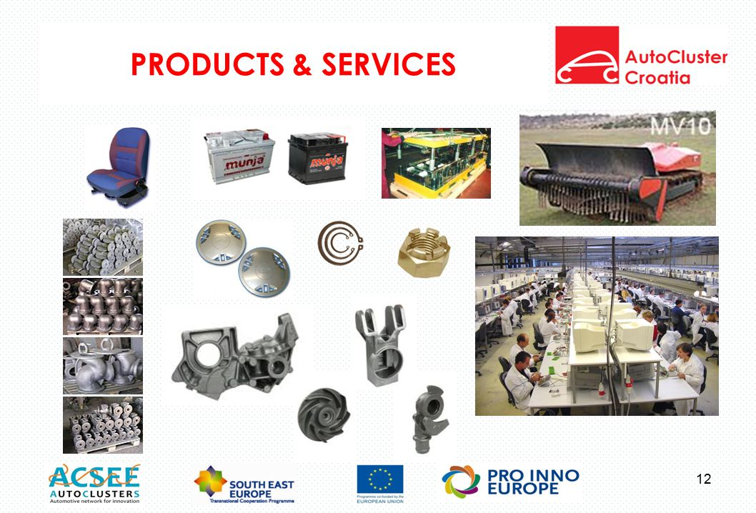 PRODUCTS & SERVICES 12