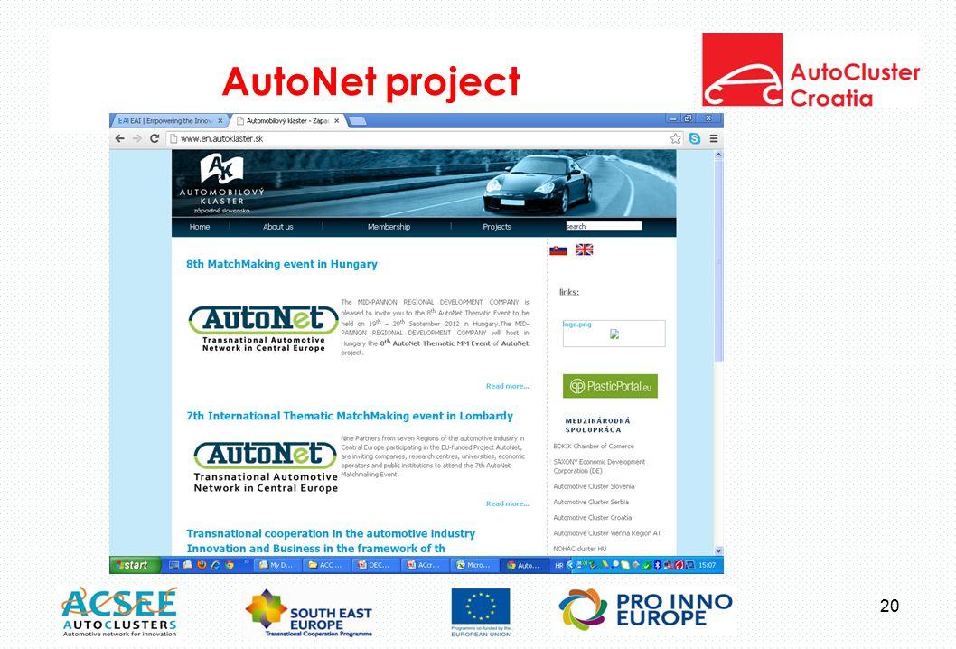 AutoNet project 20