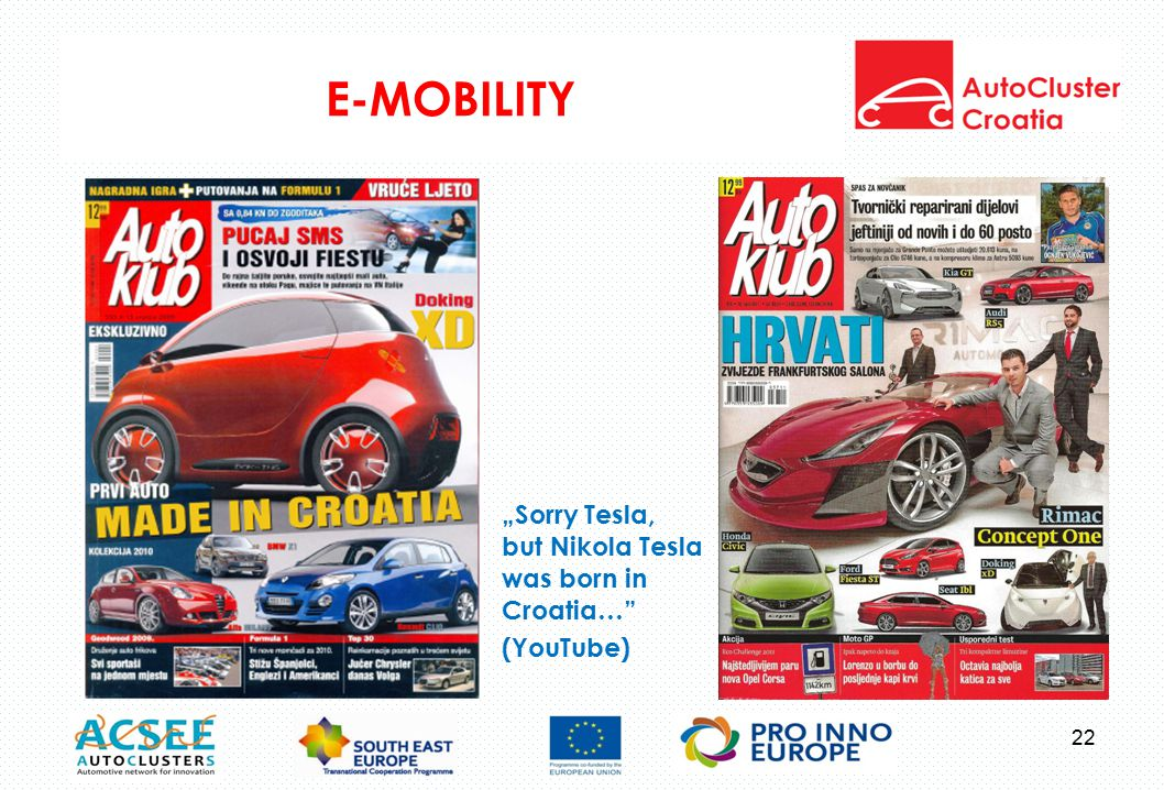 "E-MOBILITY ""Sorry Tesla, but Nikola Tesla was born in Croatia… (YouTube) 22"